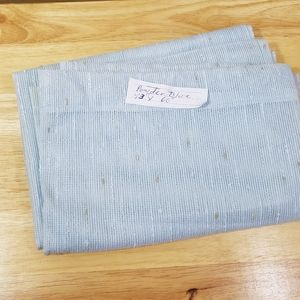"Powder Blue Sheer Panel, sz 43"" W x 60"" L"